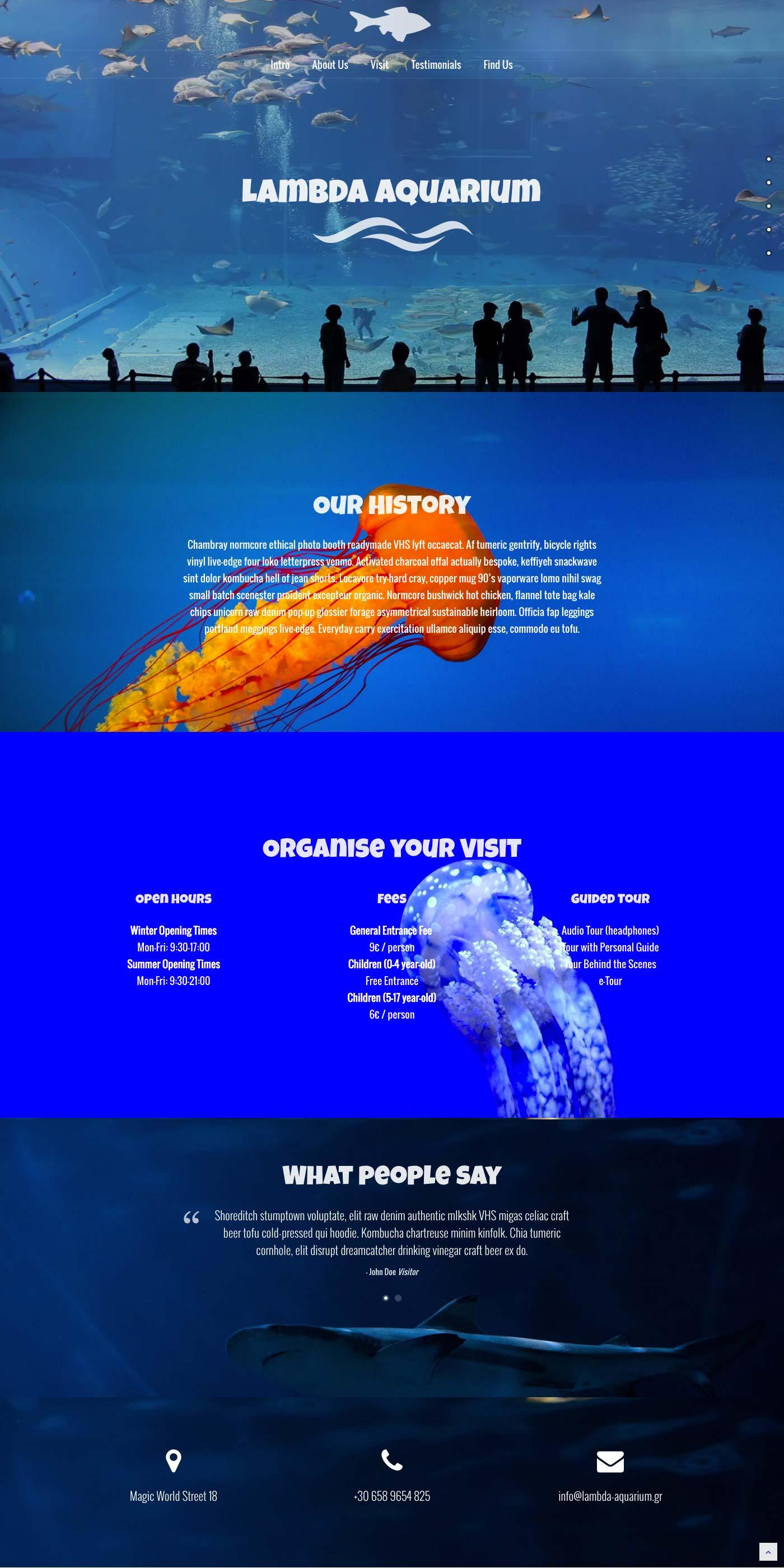Aquarium WordPress Demo