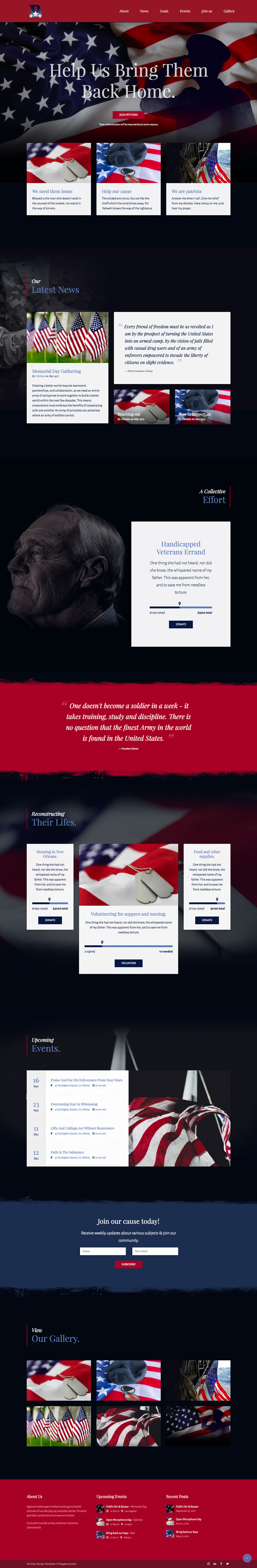WordPress Veterans Fundraising