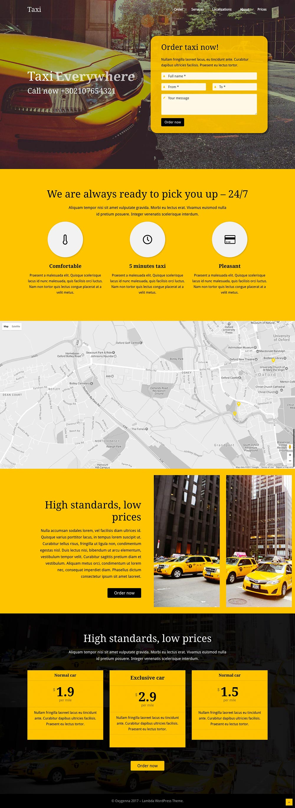 WordPress Demo - Taxicab