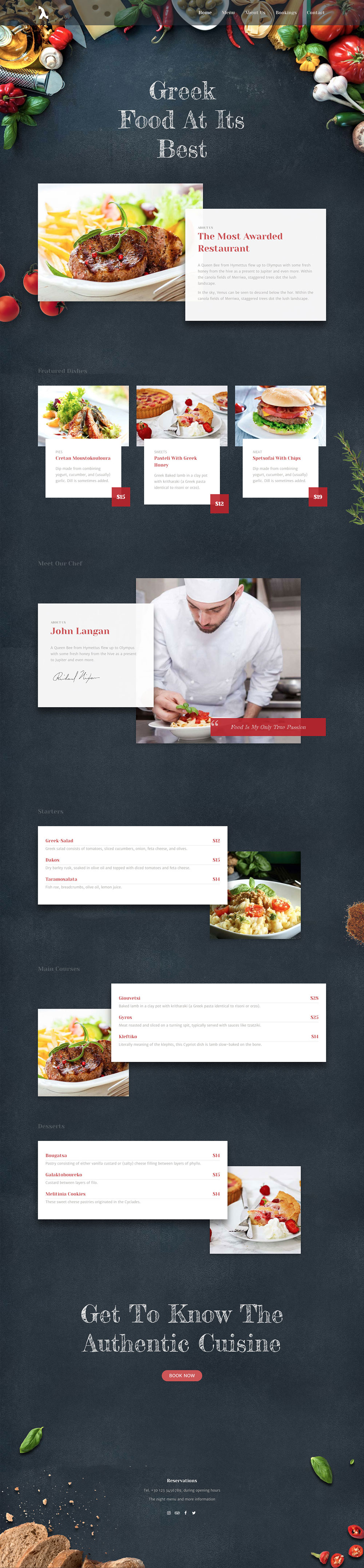 Wordpress Modern Restaurant Demo